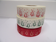 2 or 20 metres 25mm Christmas Tree Grosgrain Ribbon Xmas Roll Craft